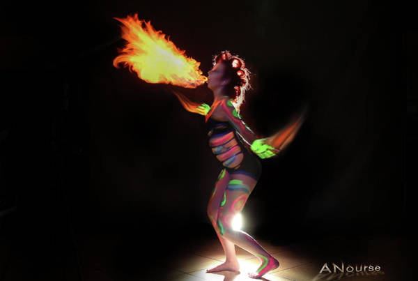 Blacklight Photograph - Fire Blowin by Andrew Nourse