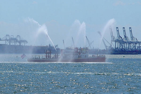 Photograph - Fire Boat by Newwwman