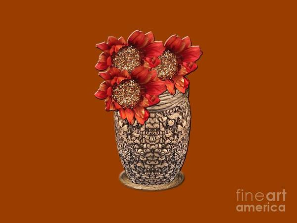 Photograph - Fire Brick Flora Vase by Rockin Docks Deluxephotos