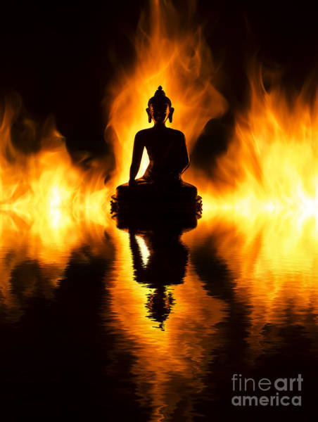Wall Art - Photograph - Fire Buddha by Tim Gainey