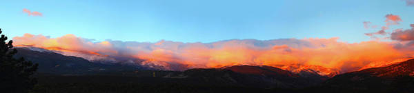 Photograph - Fire Clouds - Panorama by Shane Bechler