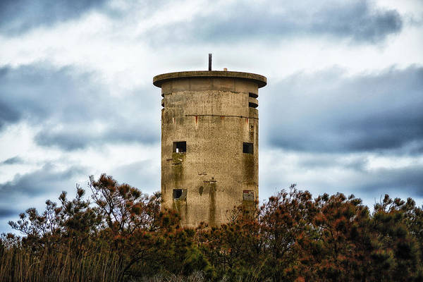 Photograph - Fire Control Tower One In The Clouds by Bill Swartwout Photography