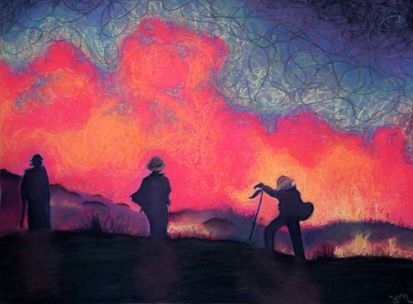 Fire Drawing - Fire Crew by Joshua Morton