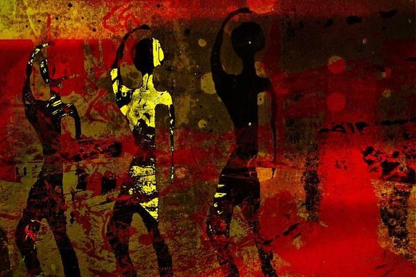 Tribal Dance Digital Art - Fire Dance  by Jen Mckenzie