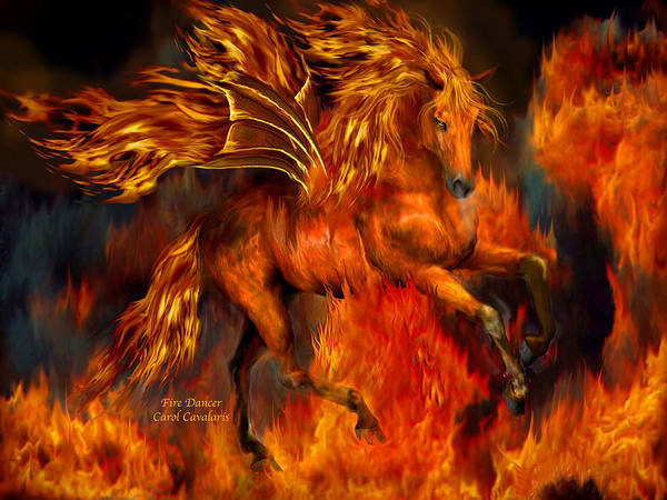 Wall Art - Mixed Media - Fire Dancer by Carol Cavalaris