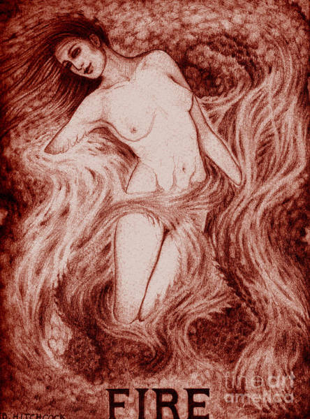 The Mystic Drawing - Fire by Debra A Hitchcock