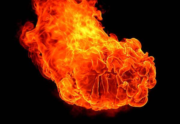 Fuel Element Photograph - Fire by Emanuel Tanjala