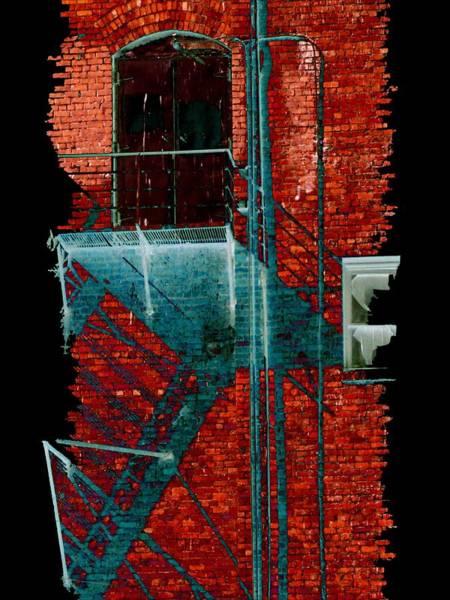 Escape Digital Art - Fire Escape 7 by Tim Allen