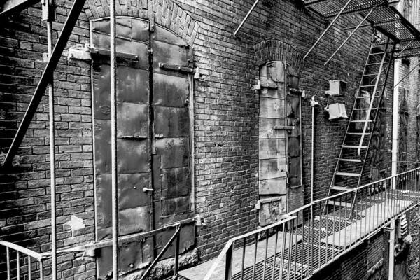 Photograph - Fire Escape And Doors by SR Green