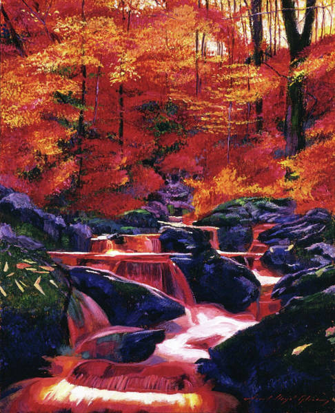 Painting - Fire Fall by David Lloyd Glover