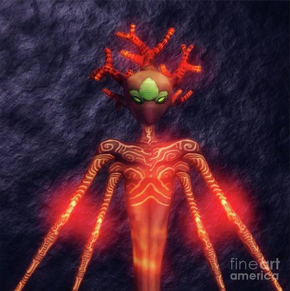 Satan Digital Art - Fire God Of Hell By Sarah Kirk by Sarah Kirk
