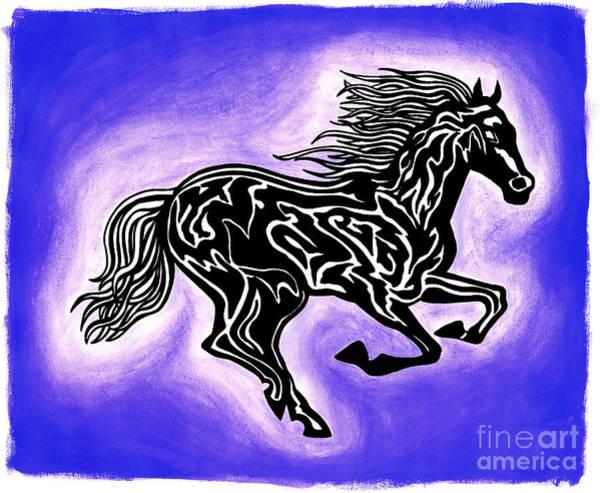 Guache Painting - Fire Horse 2 by Peter Paul Lividini