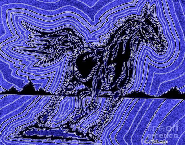 Guache Painting - Fire Horse Zap 6 by Peter Paul Lividini