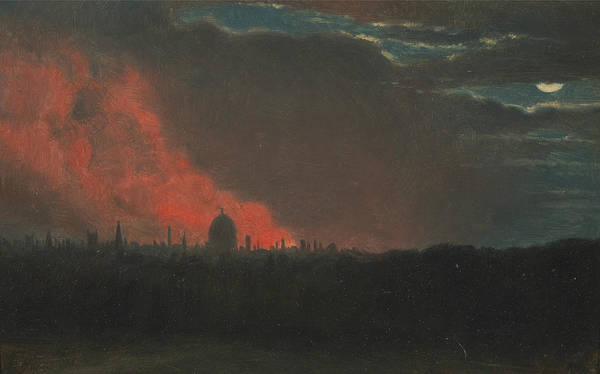 Painting - Fire In London Seen From Hampstead by John Constable