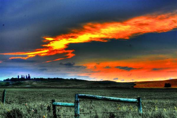 Photograph - Fire In The Sky by David Matthews