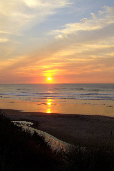 Oregon Dunes Photograph - Fire In The Sky by Everett Bowers