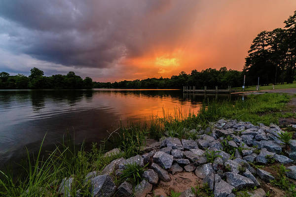 Photograph - Fire In The Sky by Lori Coleman