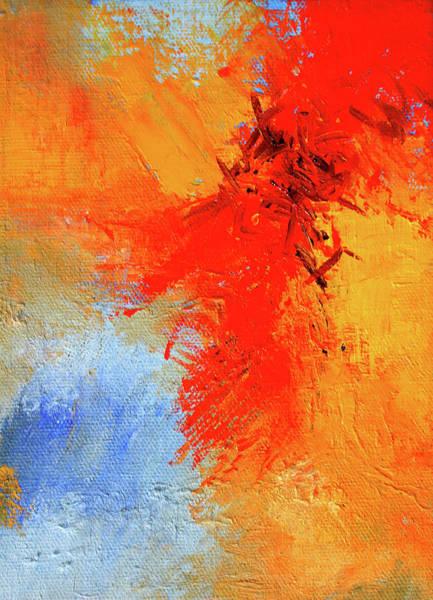 Wall Art - Painting - Fire In The Sky by Nancy Merkle