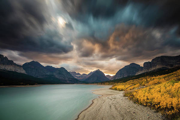 Photograph - Fire In The Sky Of Montana by Pierre Leclerc Photography