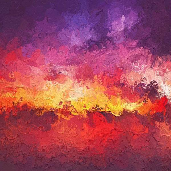 Wall Art - Painting - Fire In The Sky by Steve K