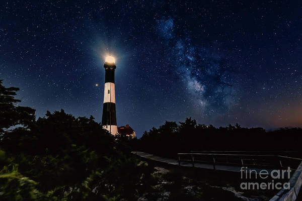 Photograph - Fire Island Lighthouse And The Milkyway by Alissa Beth Photography