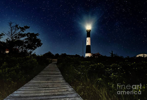 Photograph - Fire Island Lighthouse At Night by Alissa Beth Photography