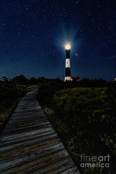 Photograph - Fire Island Lighthouse Path At Night by Alissa Beth Photography