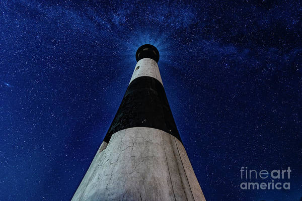 Photograph - Fire Island Long Island Lighthouse Milkyway At Night by Alissa Beth Photography
