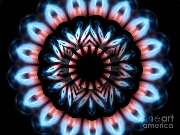 Photograph - Fire Kaleidoscope Mandala Under Star Shaped Glass 2 by Rose Santuci-Sofranko