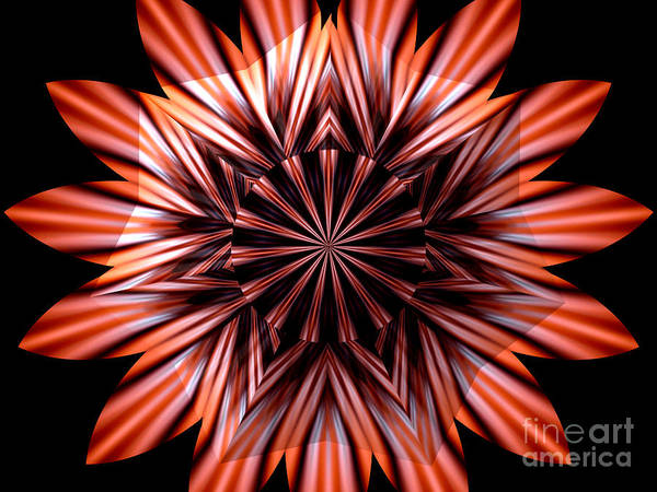 Photograph - Fire Kaleidoscope Mandala Under Star Shaped Glass by Rose Santuci-Sofranko