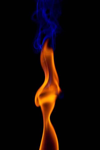 Abstract Smoke Photograph - Fire Lady by Gert Lavsen