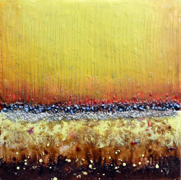 Wall Art - Painting - Fire Land #13 by Leyla Munteanu