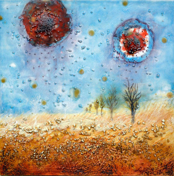 Wall Art - Painting - Fire Land #2 by Leyla Munteanu