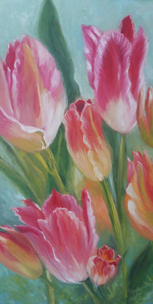 Pink Champagne Painting - Fire Of Love by Heather Kemp