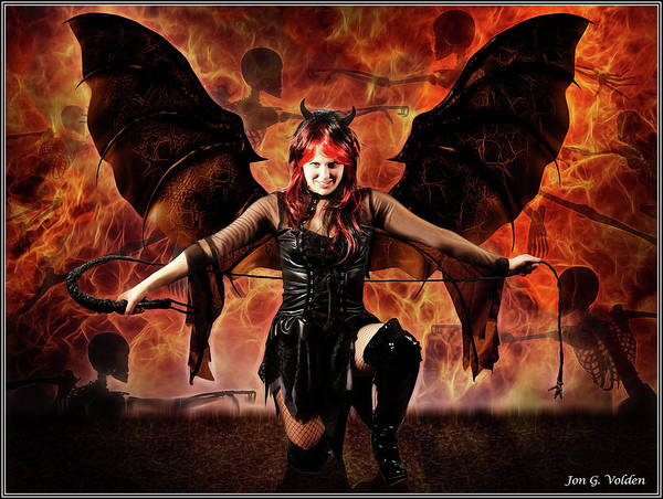 Photograph - Fire Of The Succubus by Jon Volden