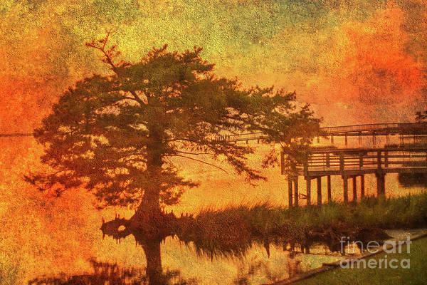 Wall Art - Digital Art - Fire On The Water by Randy Steele