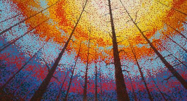 Painting - Fire  Over Montana 2017 by Kevin Heaney
