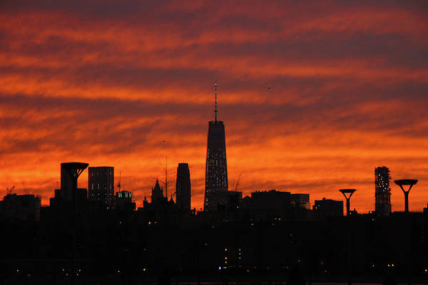 Fire Over New York Art Print