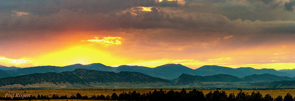 Photograph - Fire Over The Front Range by Philip Rispin
