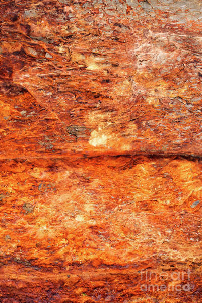 Deposits Wall Art - Photograph - Fire Rock by Tim Gainey