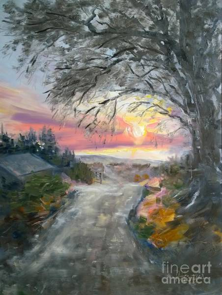 Painting - Fire Sky And The Willows by Lori Pittenger