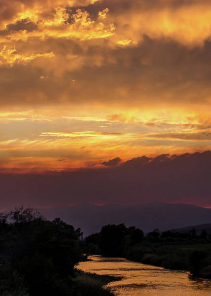 Photograph - Fire Sky At Sunset by Tom Potter