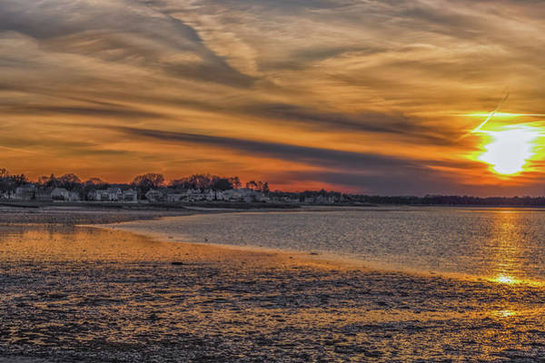 Photograph - Fire Sky Over Quincy Bay by Brian MacLean