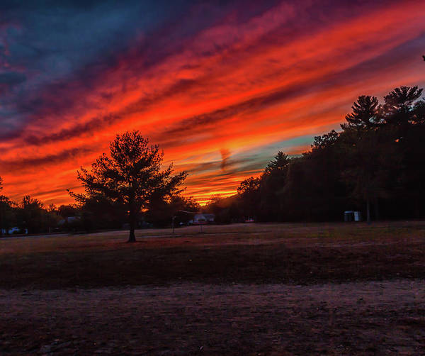 Photograph - Fire Sky Sunset At Houghtons Pond by Brian MacLean