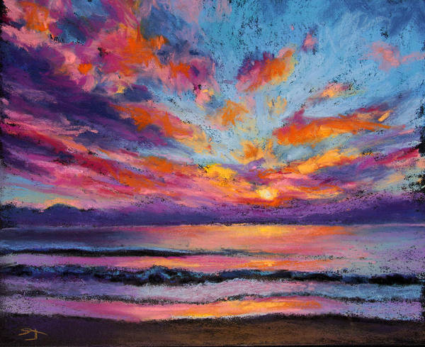 Pastel - Fire Sky by Susan Jenkins
