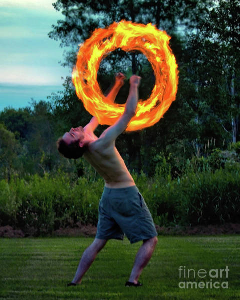 Juggler Photograph - Fire Spinner by Mark Miller