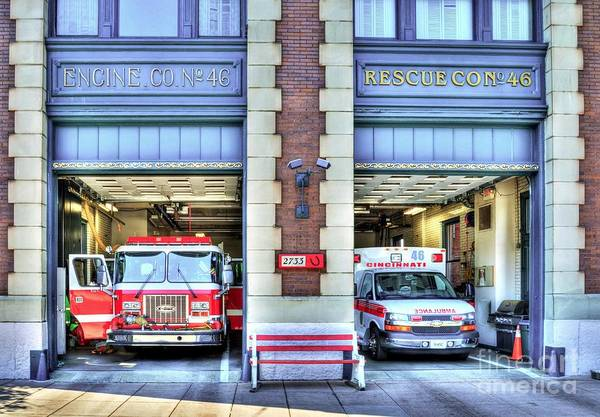 Fire Department Photograph - Fire Station Number 46 by Mel Steinhauer