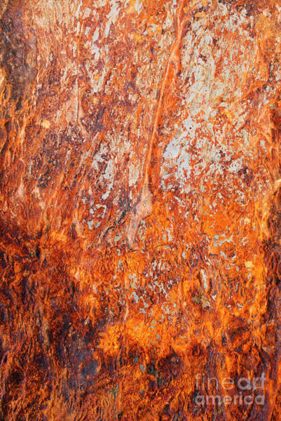 Oxidised Photograph - Fire Stone by Tim Gainey