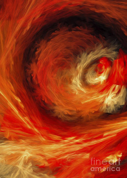 Wall Art - Digital Art - Fire Storm Abstract by Andee Design