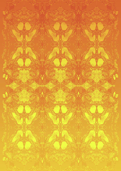 Fire Tree 11 Hybrid 2 Art Print